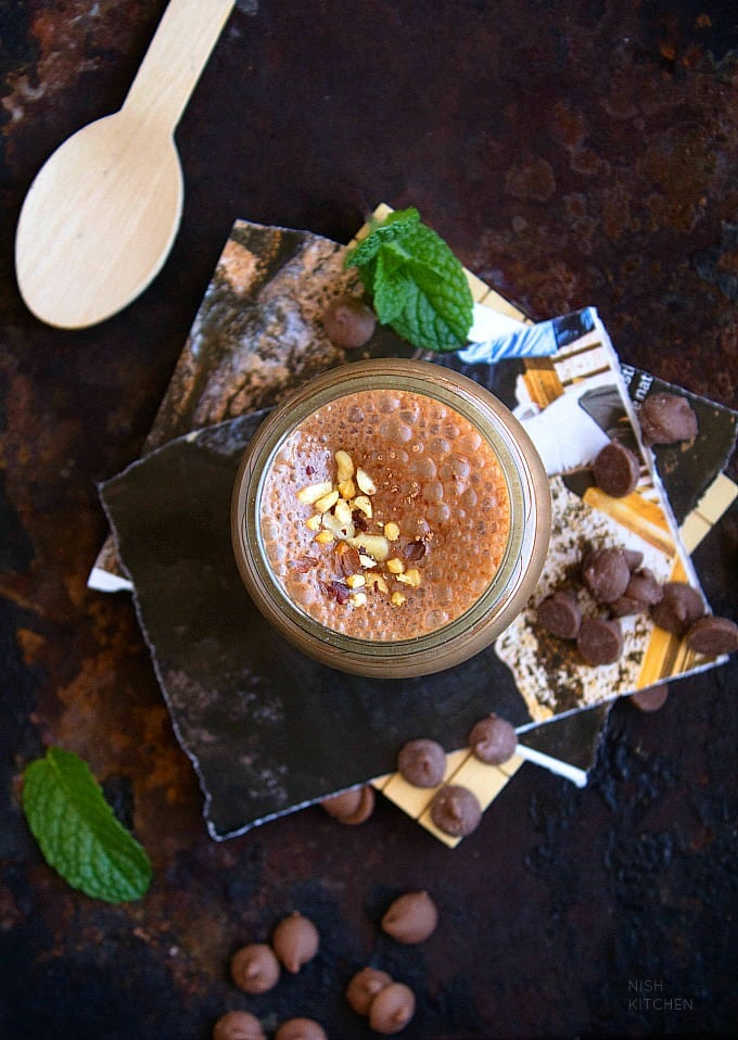healthy dark chocolate milkshake recipe video