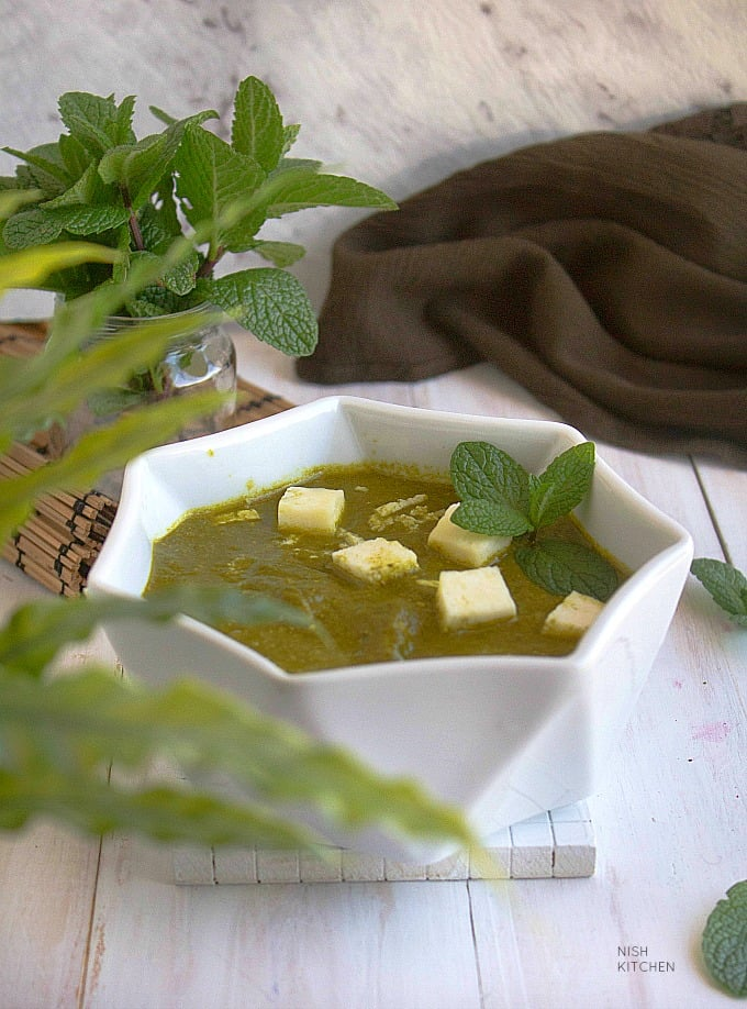 palak paneer - spinach paneer curry recipe video