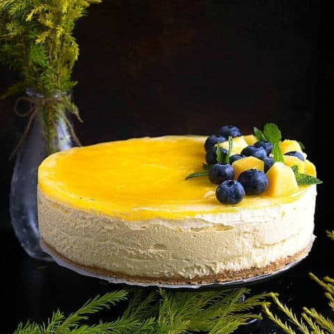 no bake mango cheesecake recipe video