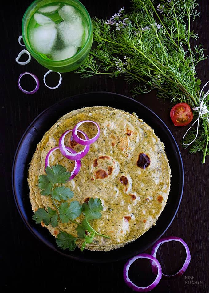 kale paratha recipe video