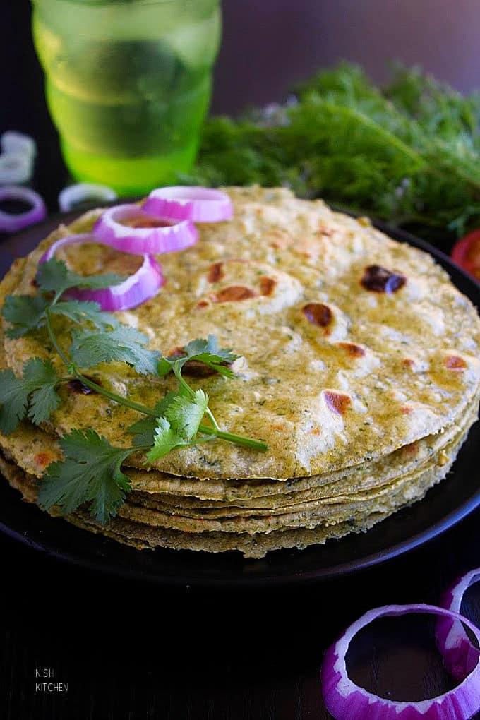 kale paratha recipe