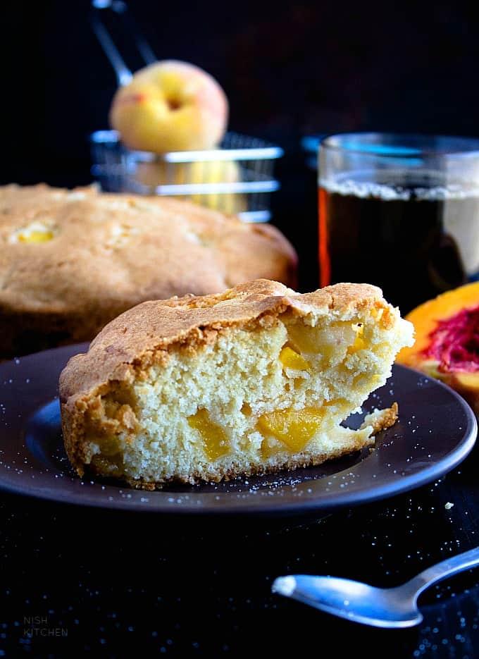 easy peach cake recipe
