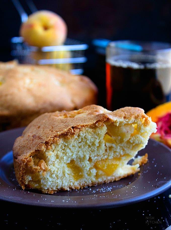 easy peach cake