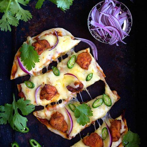 Chicken tikka masala pizza recipe video