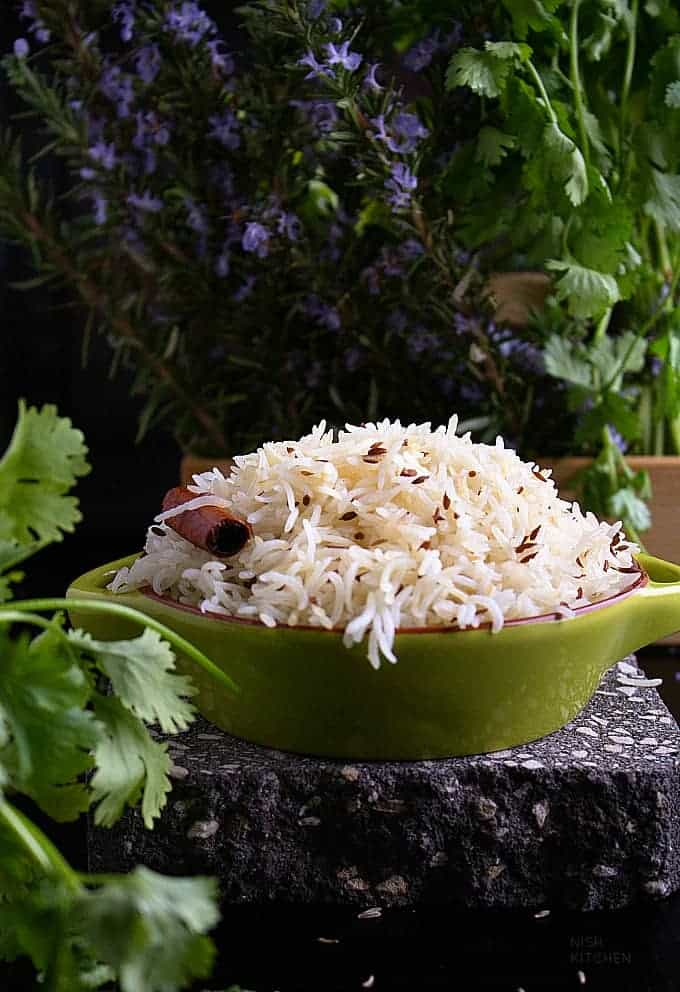 cumin rice or jeera rice recipe video