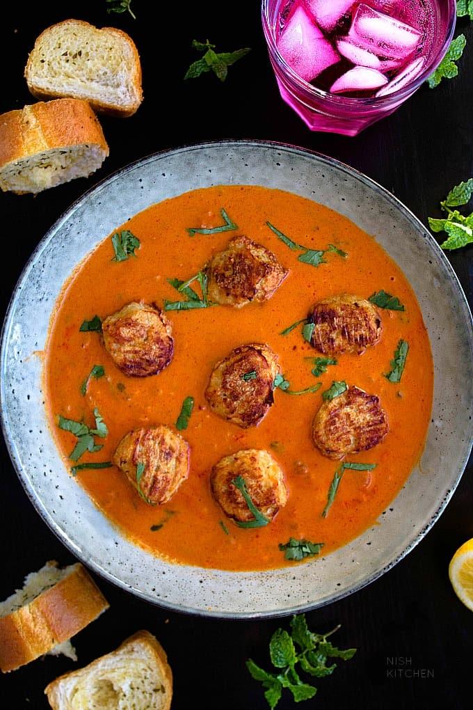 tikka masala meatballs