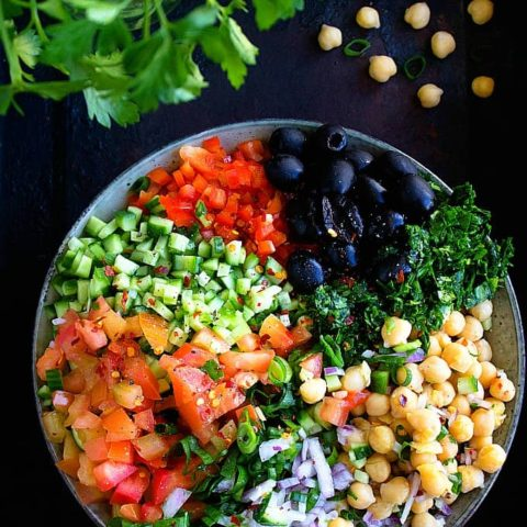 Mediterranean Chickpea Salad | Video