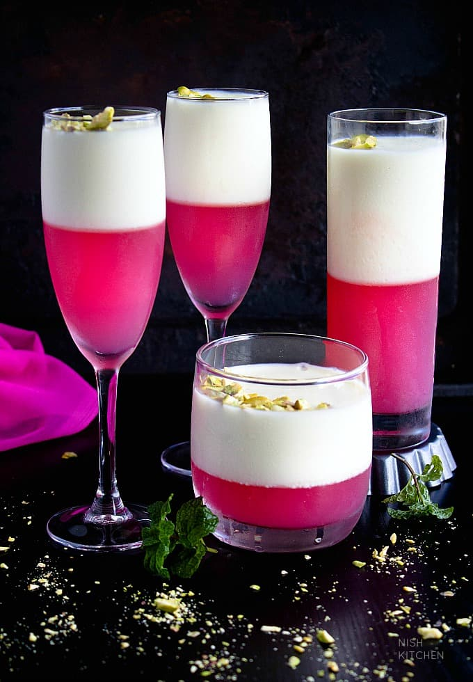 Mahalabia with Rose Jelly | Middle Eastern Milk Pudding | Video