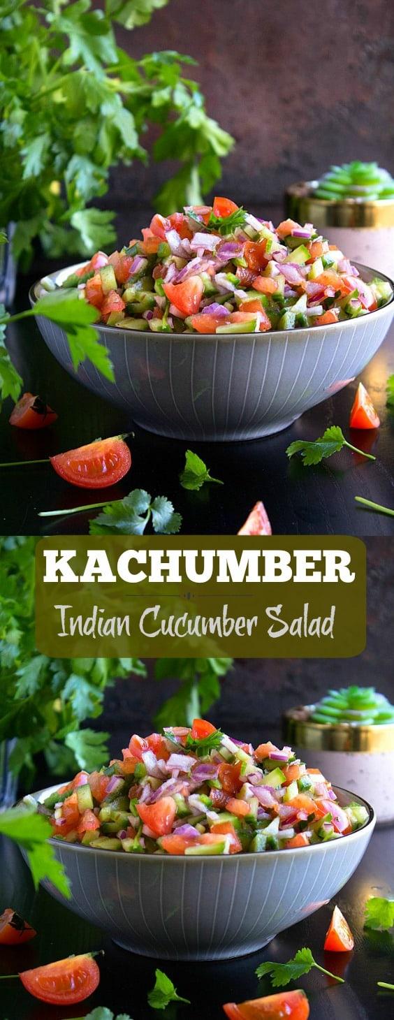 Kachumber - Indian cucumber salad