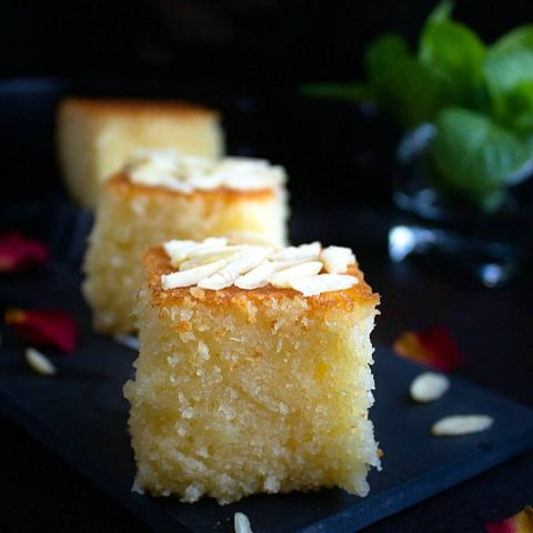 Basbousa | Semolina Coconut Cake | Video