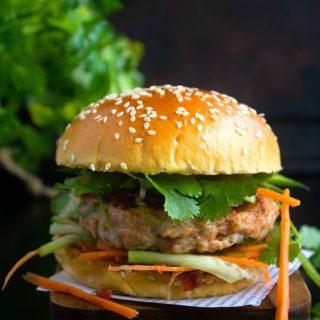 butter chicken burger recipe video