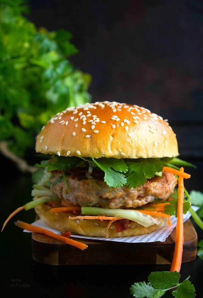 Butter Chicken Burger Video Nish Kitchen