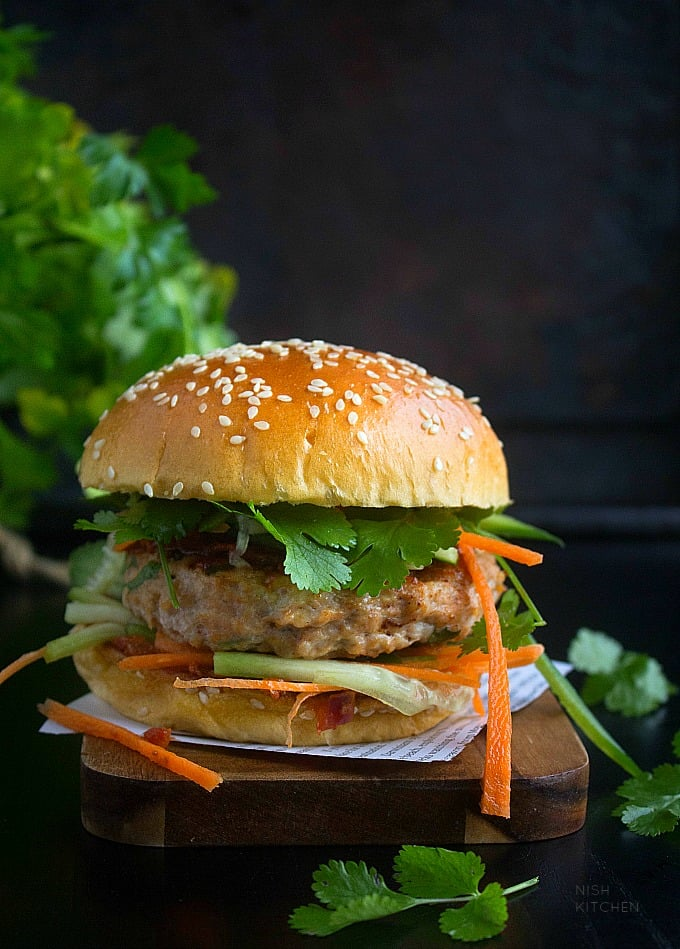 butter chicken burger recipe