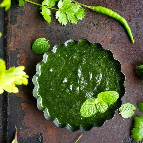 Green Chutney for Chaat Recipe Video