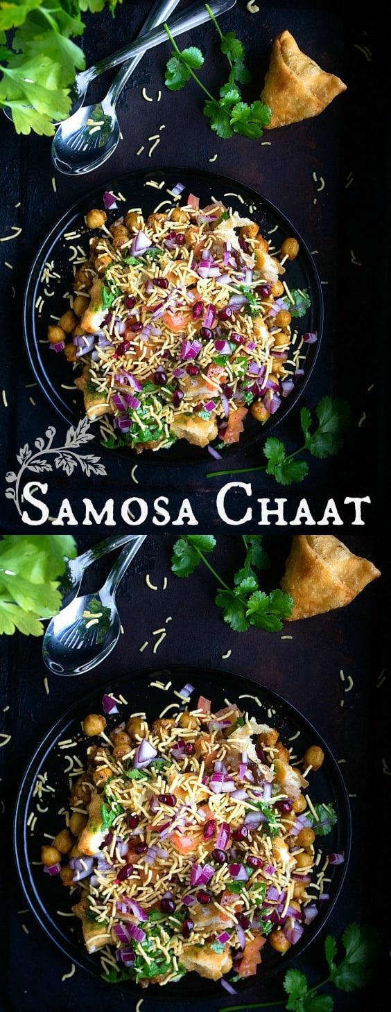 Samosa Chaat - Indian Street Food