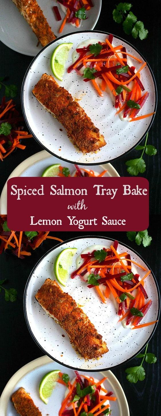 Spiced Salmon Tray Bake