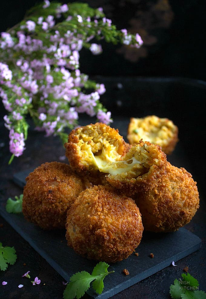 Indian biryani arancini recipe