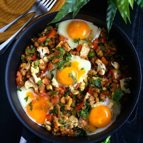 One Pan Breakfast with Sausages and Eggs | Video