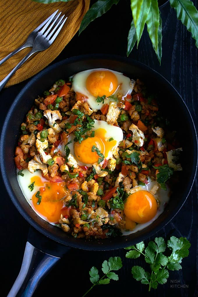 one pan breakfast with sausages and eggs recipe