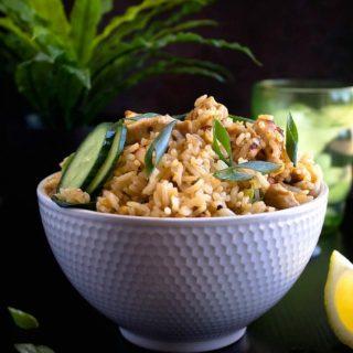 Thai chicken fried rice recipe video