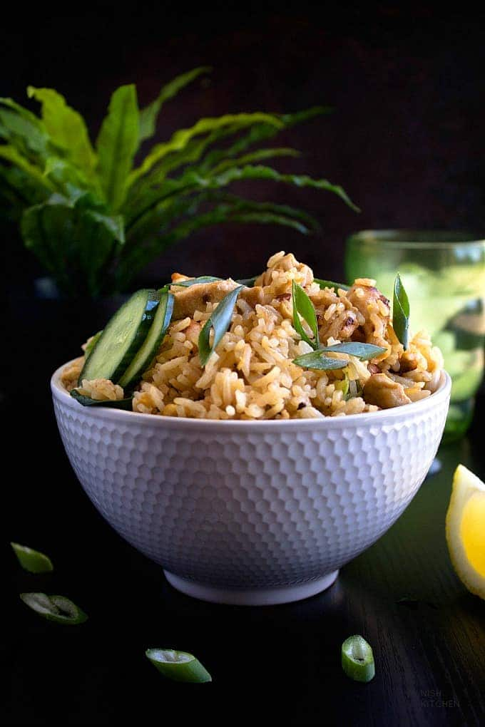 Thai chicken fried rice recipe video