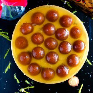 no bake gulab jamun cheesecake recipe video
