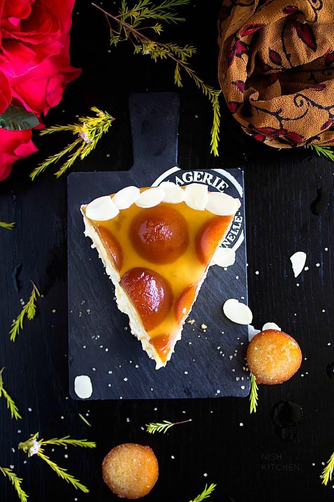 No bake gulab jamun cheesecake recipe