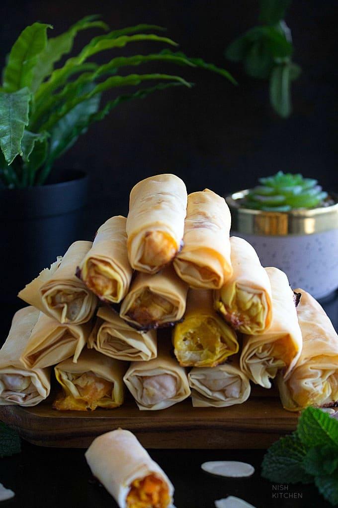 Halwa filo rolls