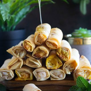carrot halwa rolls with honey syrup recipe
