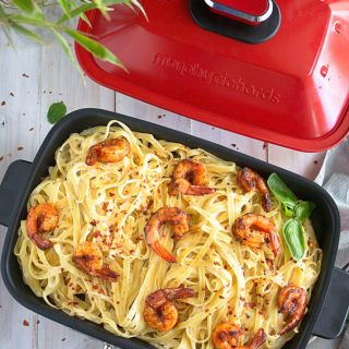 creamy lemon pasta with cajun shrimp recipe video