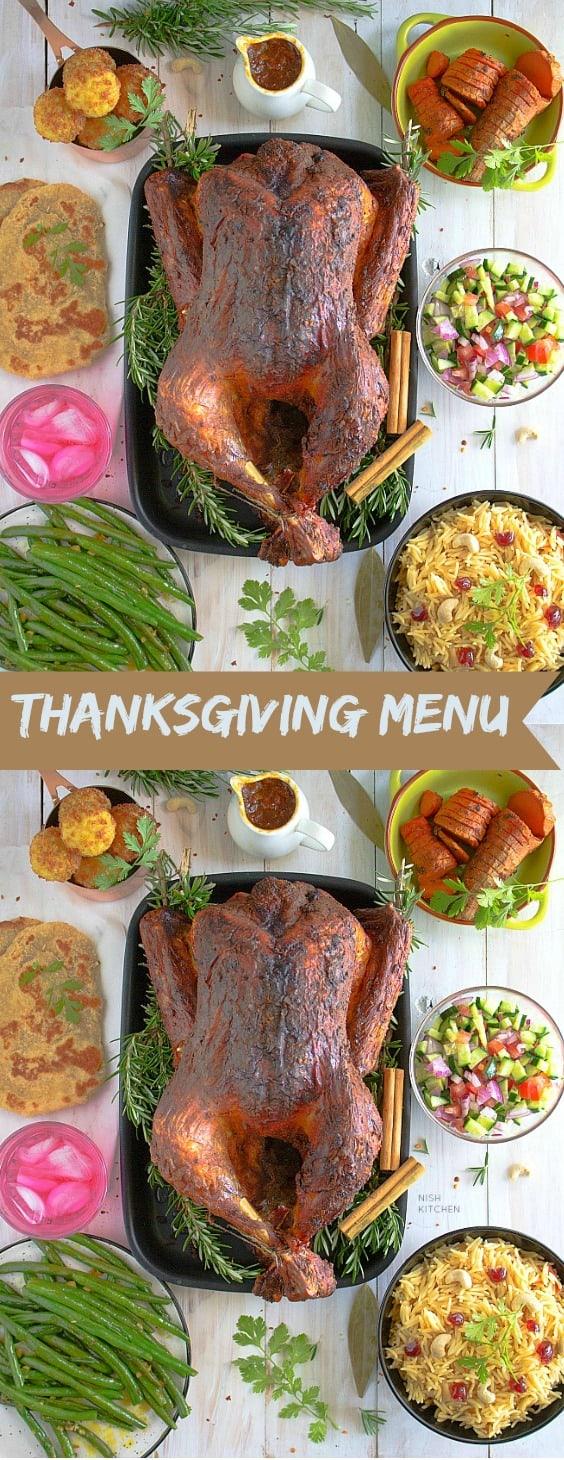 Thanksgiving menu 2019 - indian style