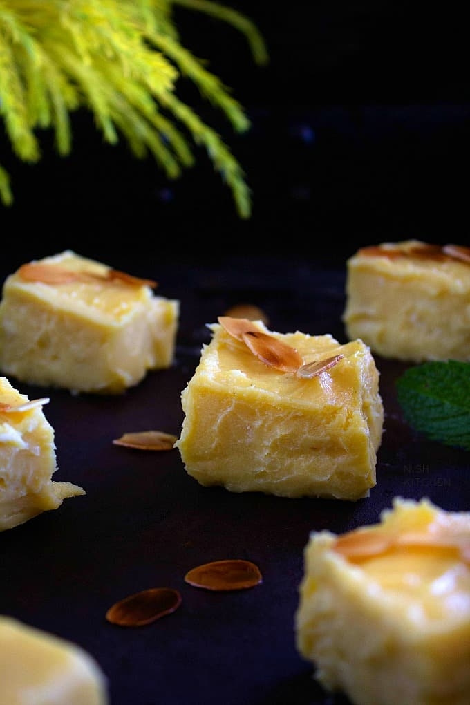 mango burfi or mango fudge recipe