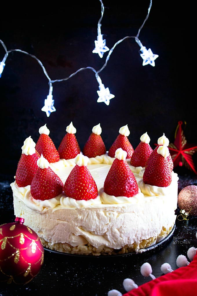 white christmas cheesecake recipe video