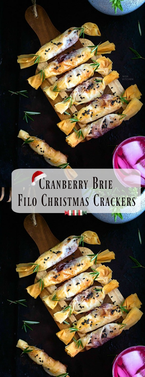 Cranberry Brie Filo Crackers