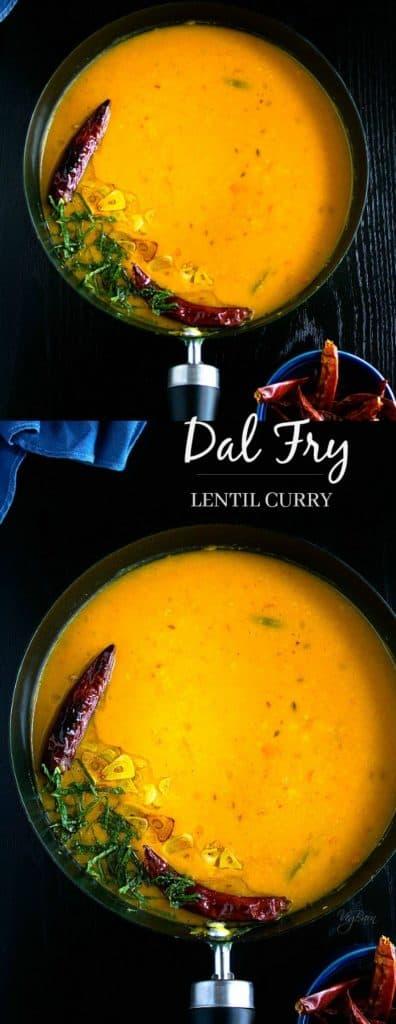 Dal fry or lentil fry