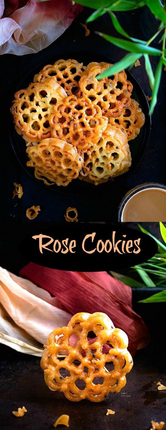 Indian rose cookies