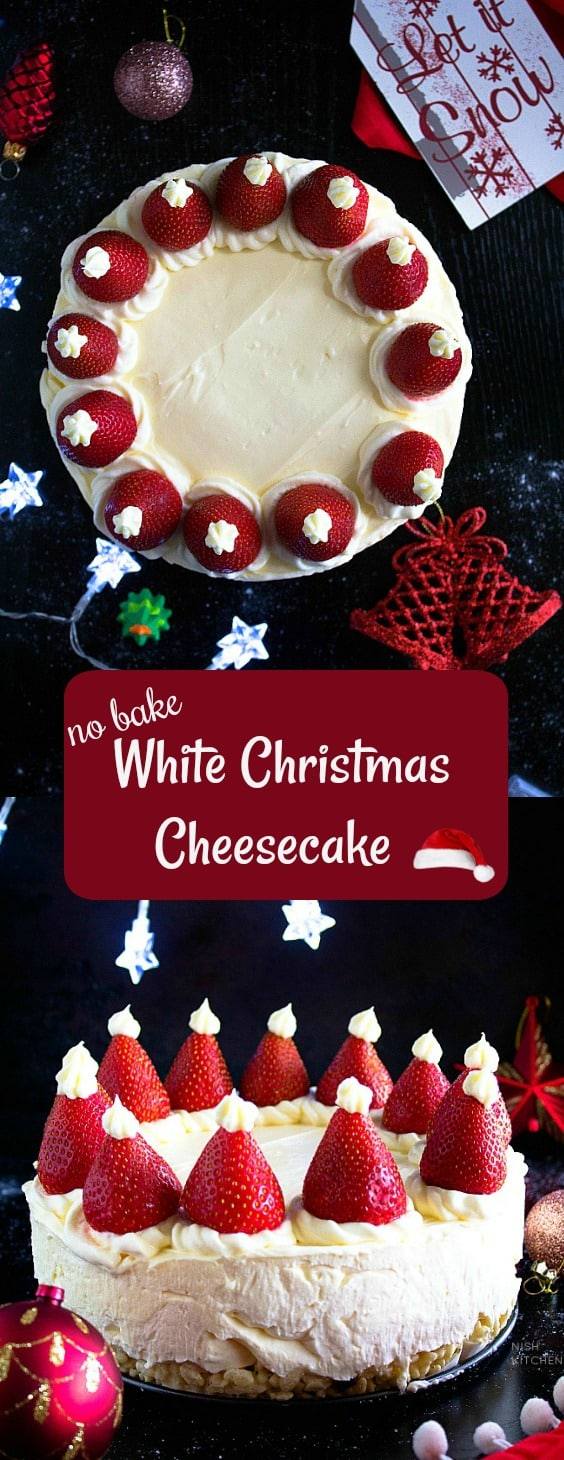No Bake Christmas Cheesecake