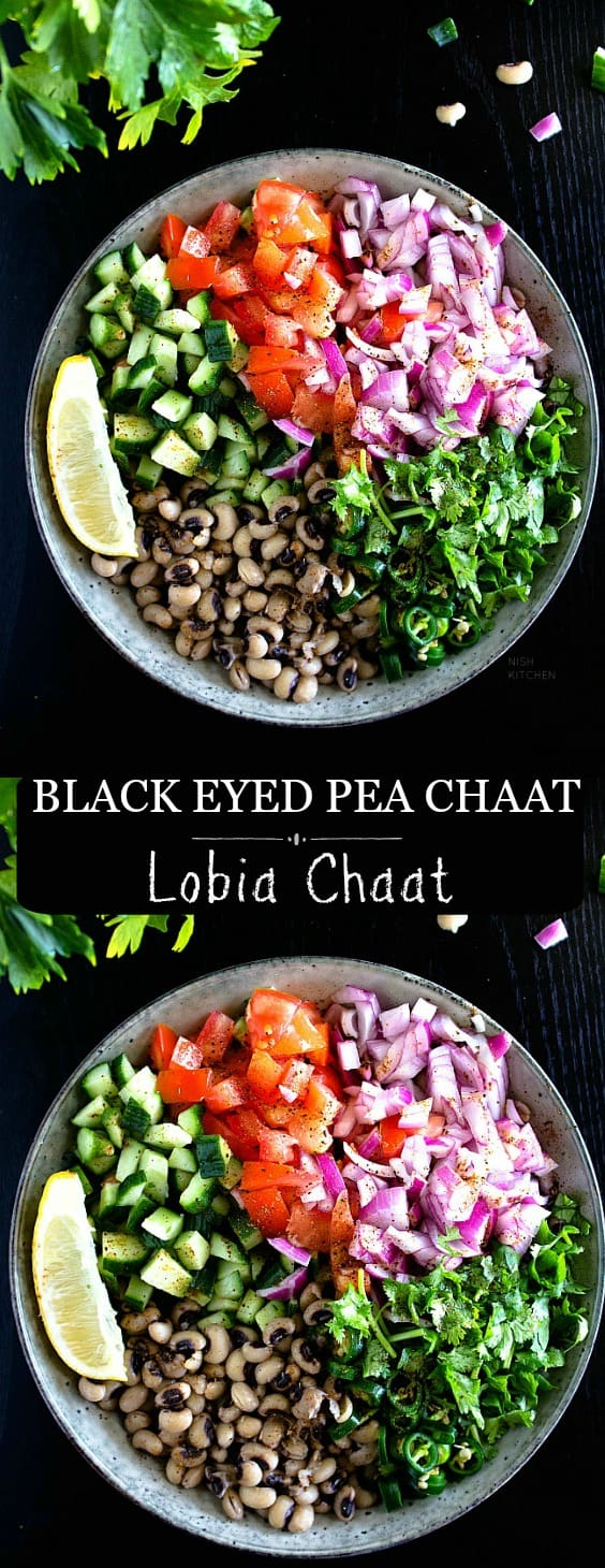 easy lobia chaat