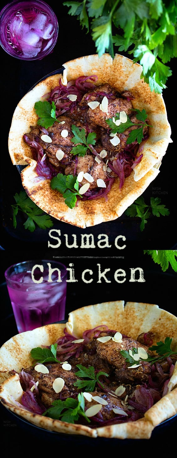 Sumac Chicken with Red Onions