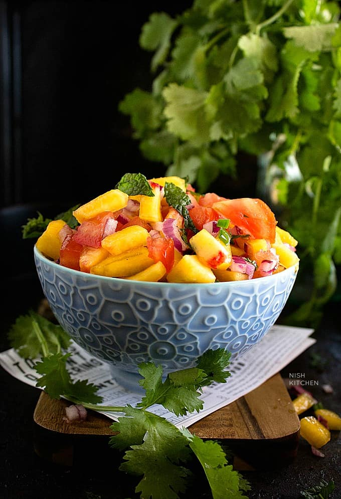 Fresh peach salsa recipe video