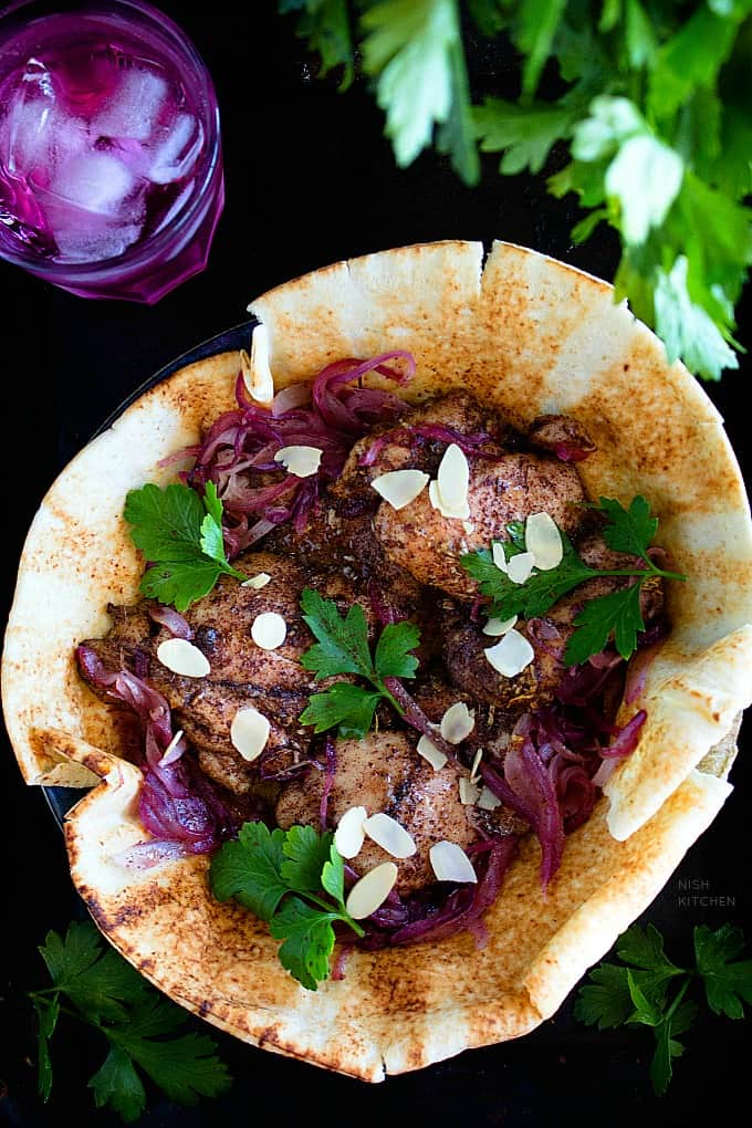 chicken with sumac and red onions