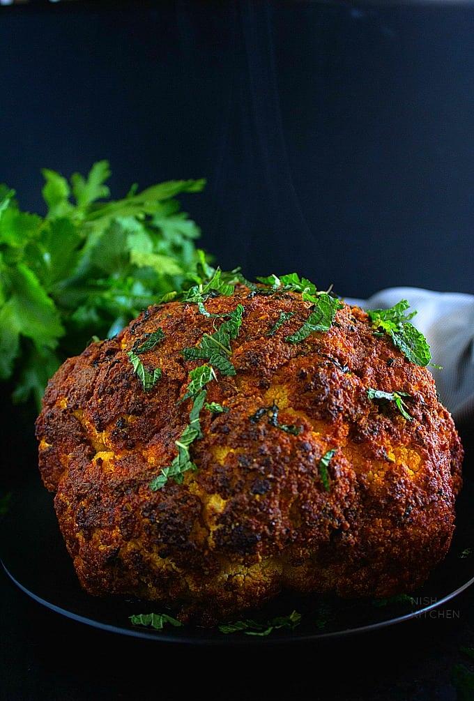 Indian style tandoori cauliflower