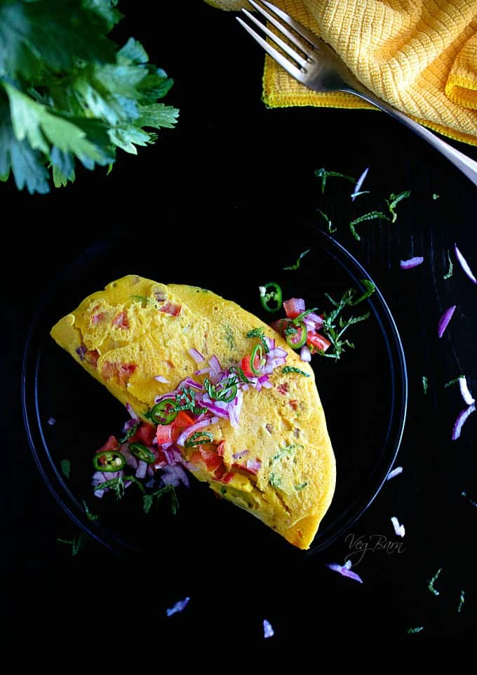 vegan chickpea omelette recipe video