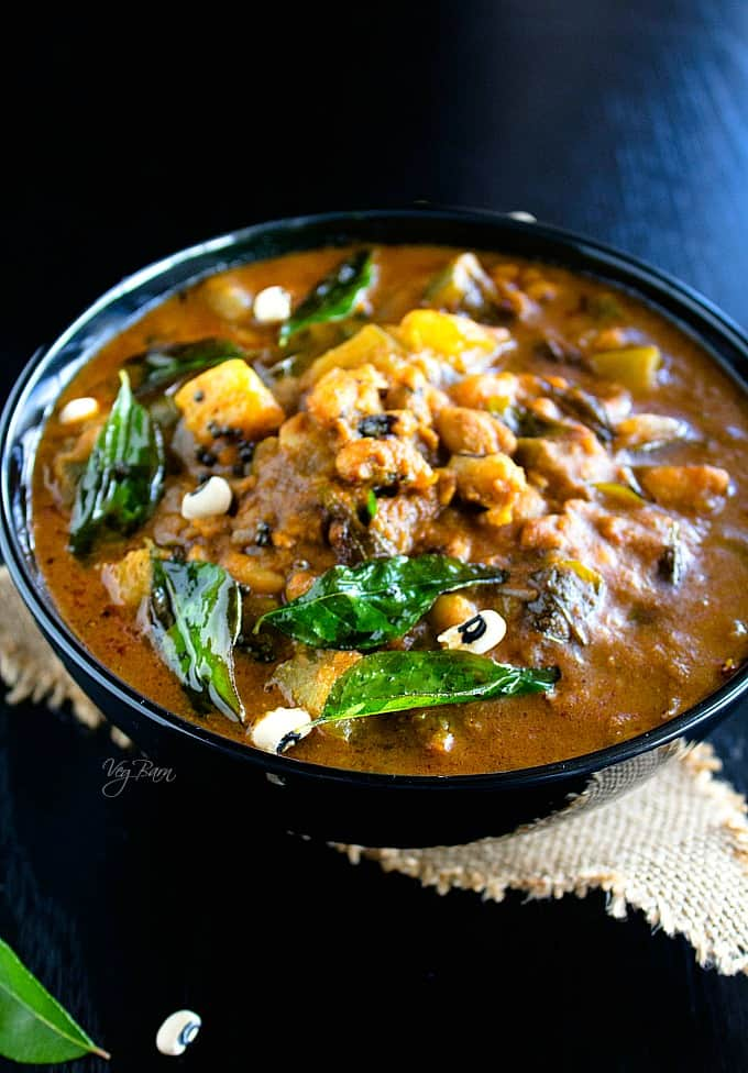 easy lobia curry