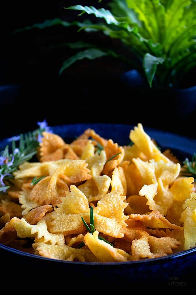 fried chips with pasta
