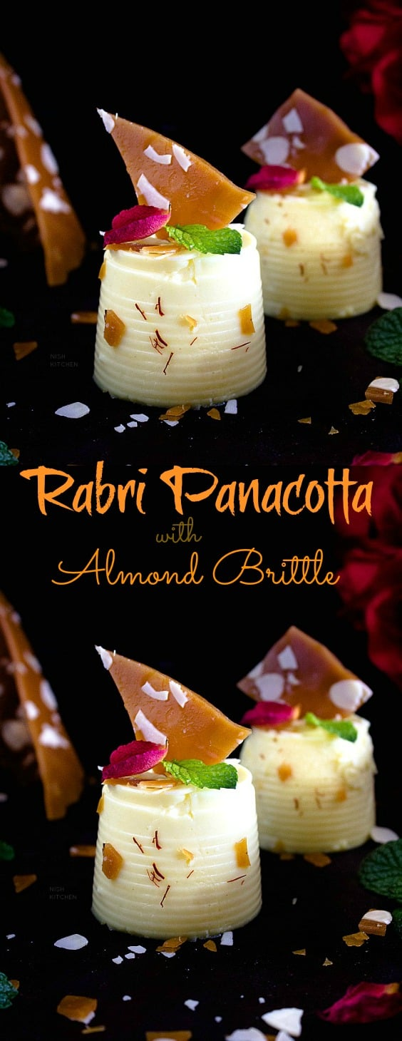 Rabri Panna Cotta with Almond Brittle