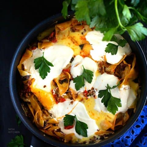 Skillet Lasagna | One Pan Lasagna | Video