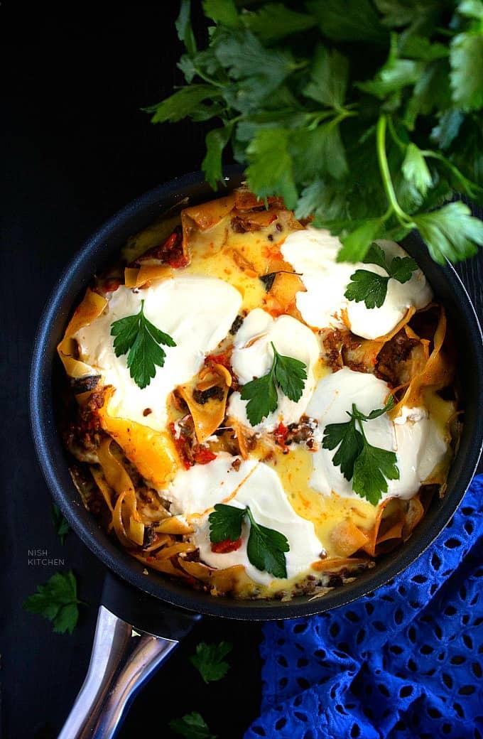Skillet lasagna recipe video