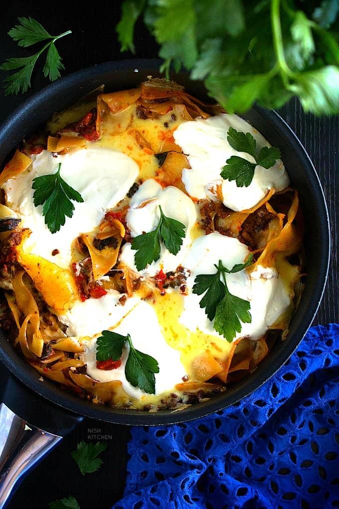 One pan lasagna recipe