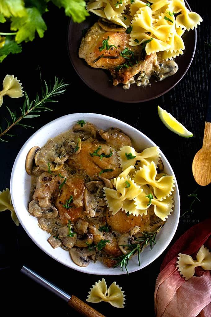 Creamy white wine chicken recipe